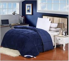 Luxury Down Alternative Hypoallergenic Twin Size Comforter Navy Blue