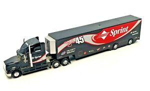 HotWheels Mattel Kyle Petty Sprint 45 Sleeper Tractor with Racing Trailer