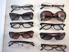 Lot of new Authentic 10 DVY Diane Von Furstenberg sunglasses & eyeglasses