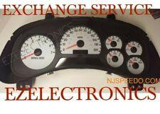2002 TO 2007 CHEVY TRAILBLAZER INSTRUMENT CLUSTER EXCHANGE WHITEFACE  10356463