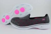 b5c996e70 14145 W Wide Fit bkhp Preto Rosa Tênis Skechers Go Walk 4 Mulheres ...