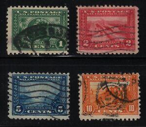 1914 Panama Pacific  Sc 401 thru 404 used set of 4 CV $97.50