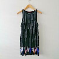 Andy Warhol By Pepe Jean's London Women's Size M Ruffle Style Layered Dress