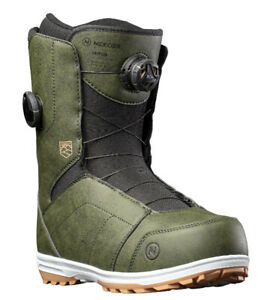 2022 Nidecker (FLOW) Triton Dual BOA Men's Snowboard Boots NEW - Khaki Size 10