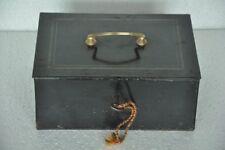 Vintage Black & Red Dschagannath Brand Iron Solid Safe/Money Box,Germany