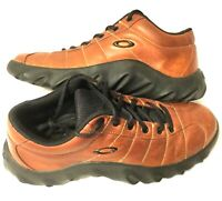 RARE MEN'S OAKLEY 11.5 HIKING SHOES Brown Leather City Hiking Tactical Gear Icon