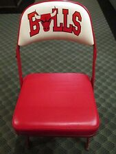 ORIGINAL CHICAGO BULLS MICHAEL JORDAN COURTSIDE USED PADDED FOLDING CHAIR SEAT