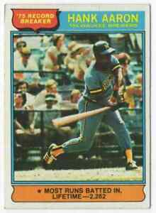 HANK AARON RB - 1976 TOPPS #1 !
