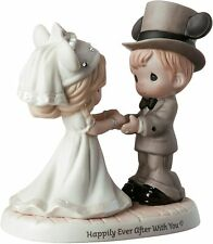 Precious Moments Happily Ever After Disney Wedding Couple Figurine