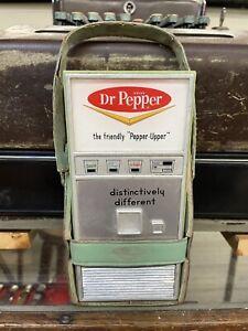 Original 1960's Dr.Pepper Transistor Radio Vending Machine In Case Very Rare