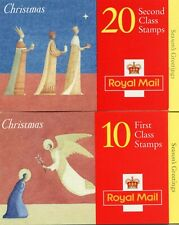 Gb Commemoratives 1996 Christmas 1st & 2nd Class Booklets with cylinder numbers
