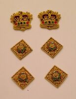 Colonel Rank, Officer Rank Stars & Crowns, Col, Army, Military, Mess Dress, Gold