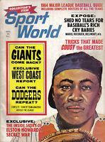 1964 Sport World, Baseball, magazine, Elston Howard, New York Yankees~West Coast