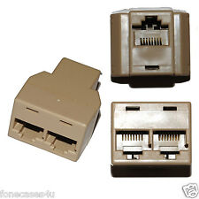 ETHERNET RJ45 INTERNET SPLITTER RETE per Samsung HD TV Extender a 2 dispositivi