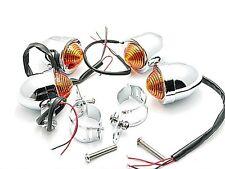 30mm-45mm 4xAmber TURN SIGNAL LIGHT for Harley Honda Suzuki Yamaha Chrome