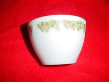 PYREX SPRING BLOSSOM GREEN OPEN TOP SUGAR BOWL HEAVY MILK GLASS FREE USA SHIP