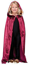 Halloween Kids Cape Fancy Dress Costume Burgundy Red Gold Cloak 88 cm New 4-8