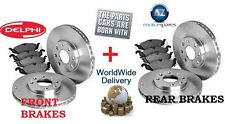 FOR RANGE ROVER SPORT 3.6TD 2006-2011 FRONT + REAR BRAKE DISCS SET + PAD KIT