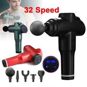Massage Gun Percussion Massager 32 Speed Deep Tissue Muscle Vibrating Relaxing