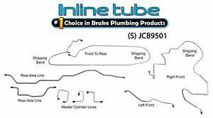 Fits 1995-2001 Jeep Cherokee XJ NON ABS Preformed Brake Line Kit Stainless Steel
