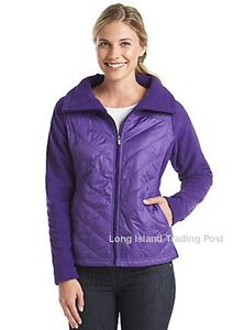 Columbia Womens Mix-it-Around Quilted Jacket Purple Water Repellent $75 M & L