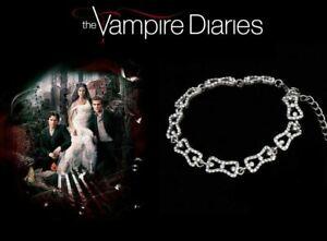 The Vampire Diaries Caroline Forbes Silver Plated Crystal Diamond Bracelet