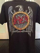 Slayer Tour Shirt Sz L/XL Kreator Rock Priest Metal Sabbath Suicidal Exodus Dio