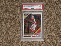 Patrick Mahomes 2019 Panini Donruss Optic #1 Super Bowl MVP KC Chiefs PSA 9 MINT