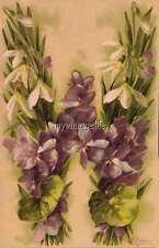 "Vintage Victorian Klein Floral Letter Initial ""W""  2"" x 3"" Fridge Magnet"