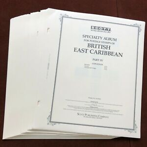 BRITISH EAST CARIBBEAN PART 4 1976-85 SCOTT SPECIALTY Stamp Album Pages Complete