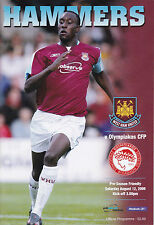 West Ham United v Olympiakos CFP 12/8/06 (2006-2007)