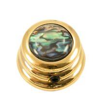 Q piezas Ringo Perilla-Abalone Shell cap-natural/Base De Oro