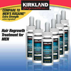 Kirkland Minoxidil 5% Extra Strength Men Hair Regrowth Solution 6 Month Supply