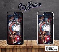 Captain America Shield Marvel Avengers Hard Case Cover for all iPhone Models T5