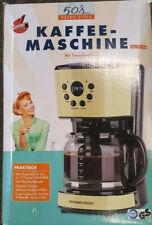 GOURMETmaxx Kaffeemaschine Retro + Filter  900W NEU