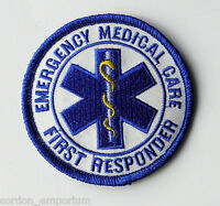 EMT EMERGENCY MEDICAL CARE FIRST RESPONDER EMBROIDERED 3 INCH PATCH