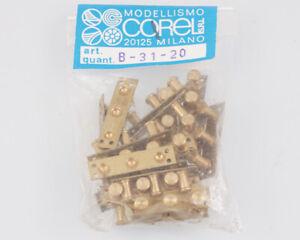 Corel B31 Taquet 3 Éléments 6 MM (20 Pièces) Modélisme