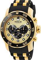 Invicta Men's Watch Pro Diver Chronograph Gold Tone Dial Two Tone Strap 24852