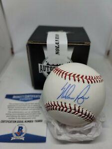LEAF autographed signed baseball Nolan Ryan BECKETT COA