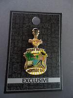 Hard Rock Cafe Montego Bay Jamaica - City Tee Core - Guitar with HRC Logo Pin