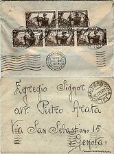 REGNO-Decennale cinque 10c(326)-Busta Roma Ferrovia C- Genova 17.12.1933