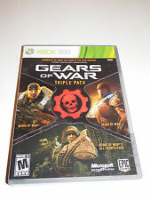 Gears of War Triple Pack (Microsoft Xbox 360, 2011) Works Great
