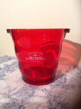 French Champagne Ice Bucket Mumm G.H - Retro Style Red Acrylic (1697)
