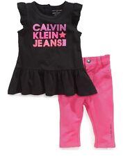 Calvin Klein Baby Girls 2-Piece Tunic & Jeggings Set Size 12 Months