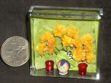 Day of The Dead Sugar Skull Carnations 2 Votive Candles 1:12 Miniature #4114