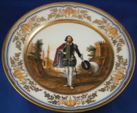 Antique 19thC Naples Porcelain Scenic Nardone Family Plate Porcellana Scene