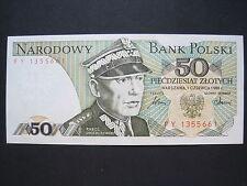 Poland, Bank Polski 50 Zlotych Banknote 1986 (W 599)