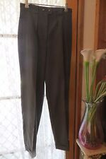 VINTAGE 80'S does 40'S ~ OJAY  ~ Dull Green Cuffs PANTS * Size 10/12 *