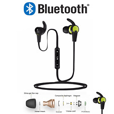 Bluetooth 4.2 Headphones Earphones For Sports Gym Running with Mic For All
