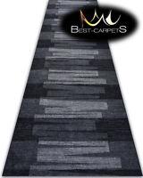 THICK Runner Rugs VIA VENETO grey modern NON-slip Width 67-100cm extra long